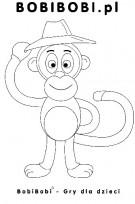 Kolorowanka Małpka
